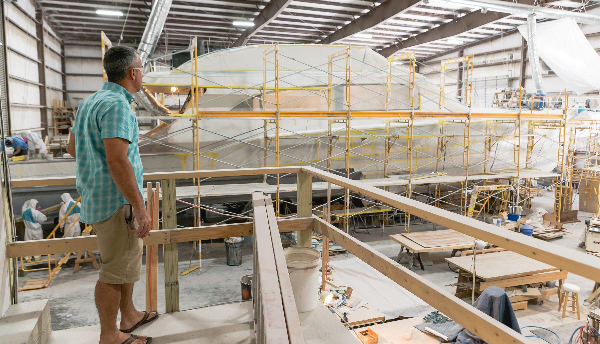 Scott overseeing a custom build